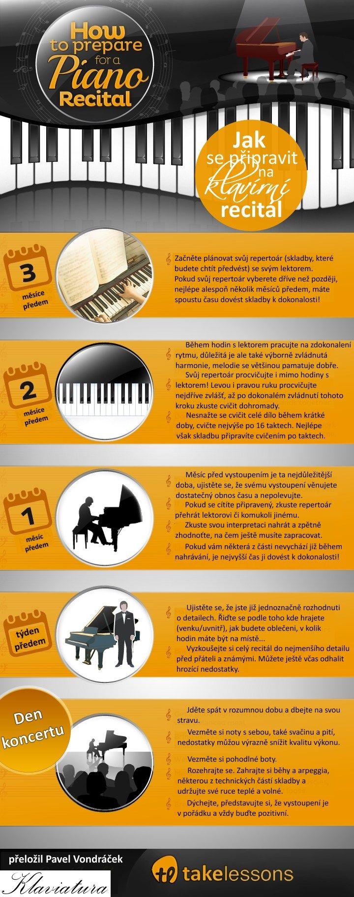 Víte, jak se připravit na klavírní recitál? Mrkněte na infografiku.