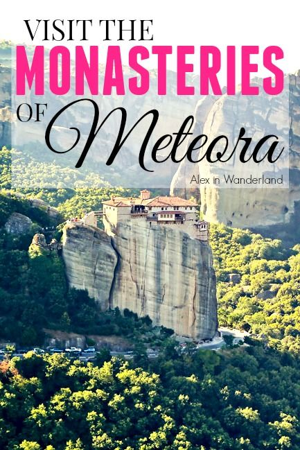 Paying a visit to the awe-inspiring clifftop monasteries in Meteora, Greece is a must-do for every traveler.  They can only be described as jaw-dropping | Alex in Wanderland