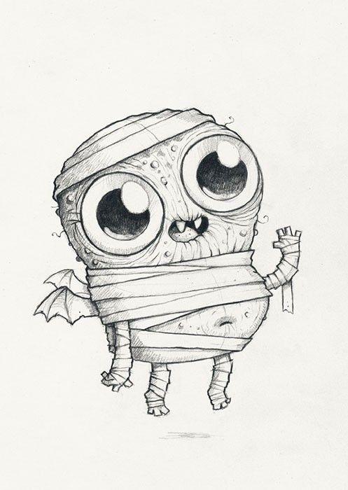 Chris Ryniak Spooky Scribble 395 Cute Monsters