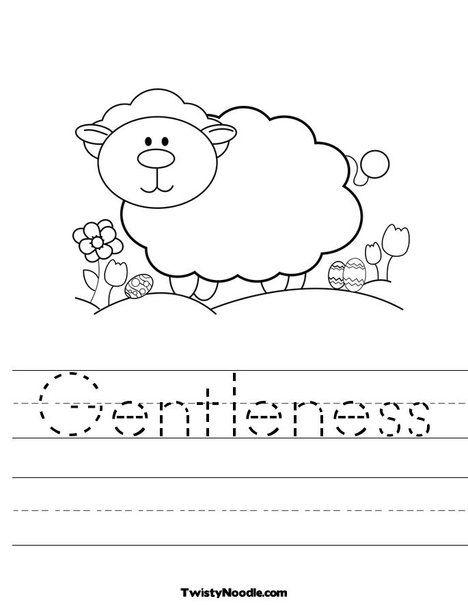 Gentleness Retreat Pinterest Fruit Of The Spirit Worksheets