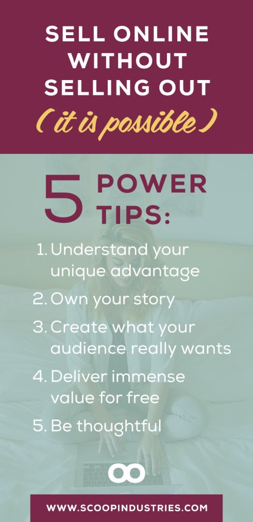 ONLINE SALES || It is possible to sell online and boost your sales without selling out. This blog post shares 5 ways to sell with integrity and thoughtfulness on the web ---> pin for later.
