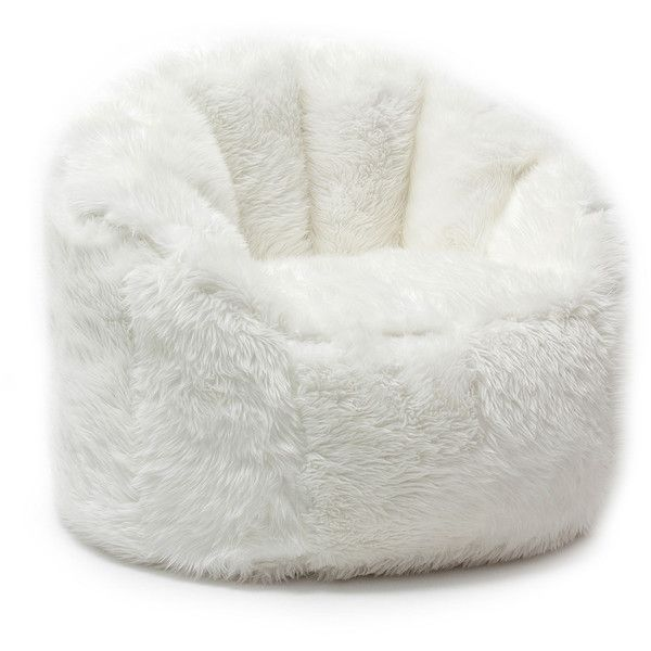 Comfort Research BeanSack Big Joe Milano Faux Fur Bean Bag Chair ($122) ❤ liked on Polyvore featuring home, furniture, chairs, over sized chair, faux fur bean bag, circular chair, oversized bean bags and round bean bag