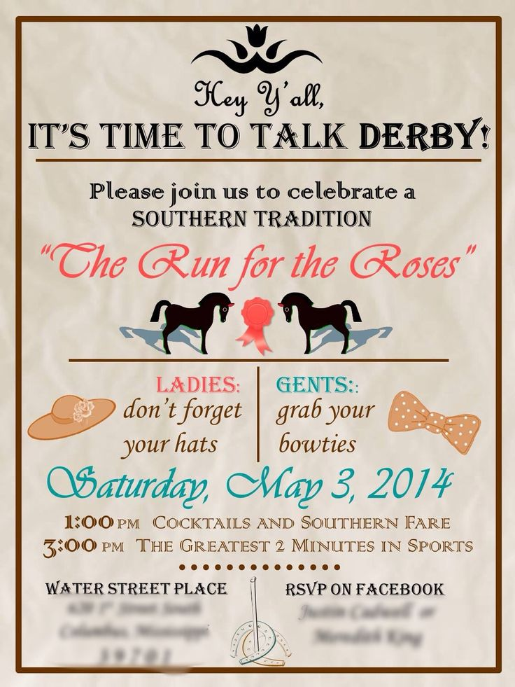 Best 25 Derby party ideas – Derby Party Invitations