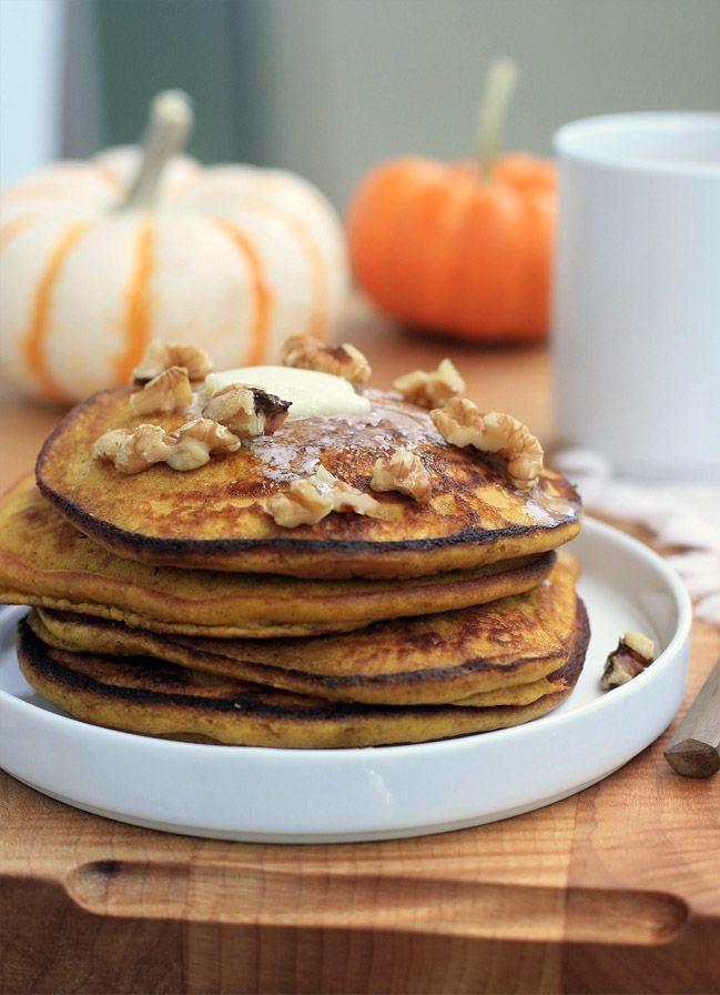 Gluten-Free Pumpkin Spice Pancakes | Girl Cooks World