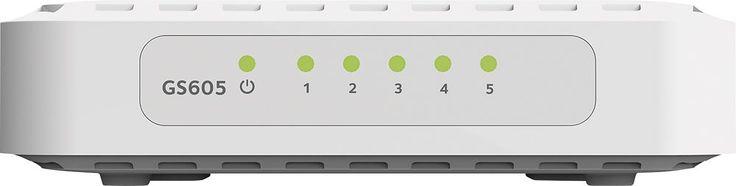 NETGEAR - 5-Port Gigabit Ethernet Switch - White