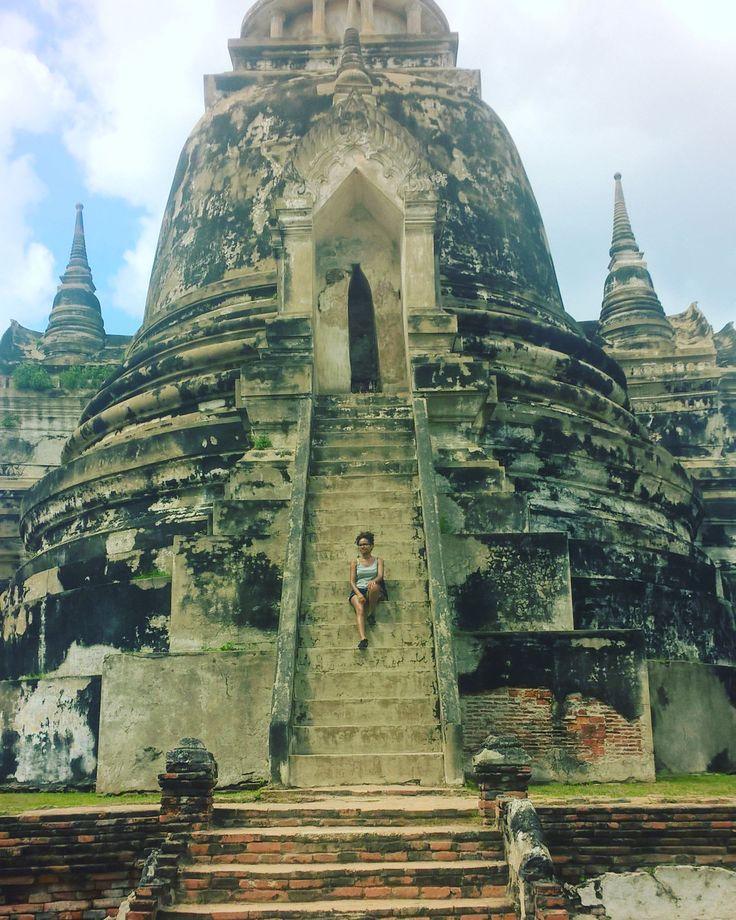 En mode aventurière dans la cité perdue d'Ayutthaya  #Thailande #cite #ayutthaya