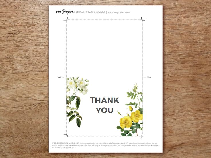 25 Best Ideas About Thank You Card Template On Pinterest