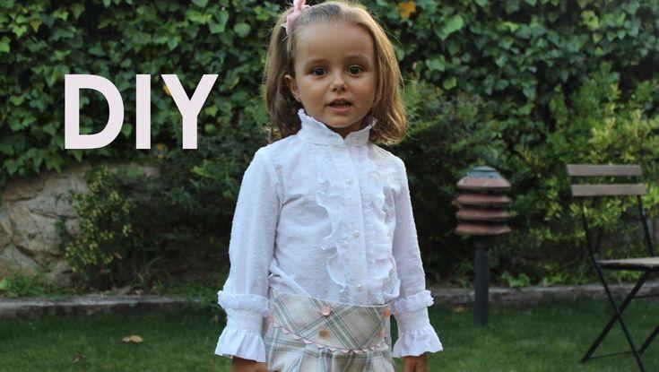 Como hacer una blusa con chorrera de niña.
