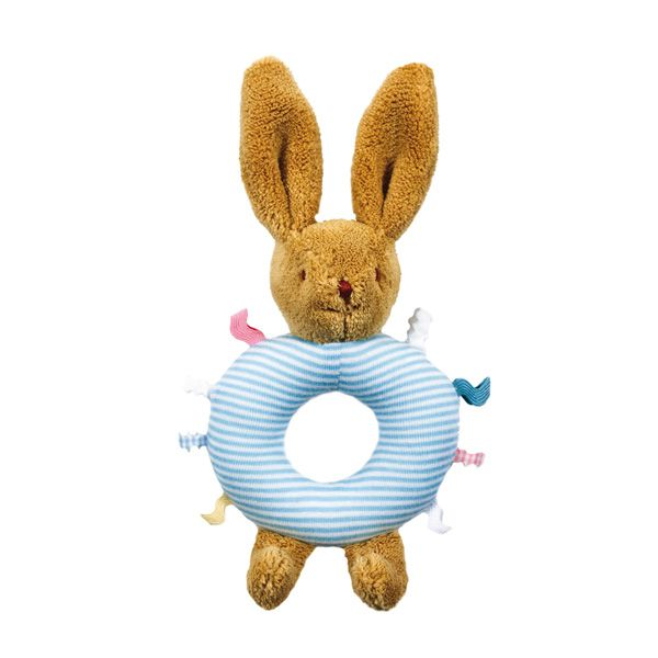 Trousselier Blue Bunny Rattle Ring