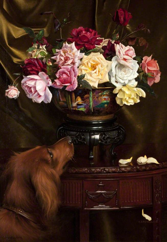 The Scent by Charles Spencelayh