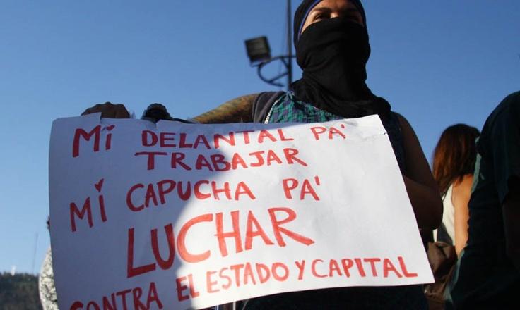 Marcha por el Día Internacional de la Mujer en Santiago (Chile) 08/03/2012