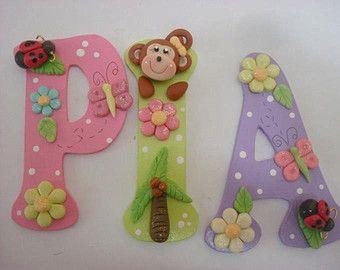 Letras decorativas para la habitacion del bebe baby - Letras decorativas para ninos ...