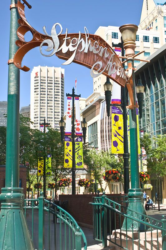 Stephen Avenue Walk Downtown Calgary - spend a day here shopping & check out the bars & restaurants as well as the entertainment in the pedestrian mall.