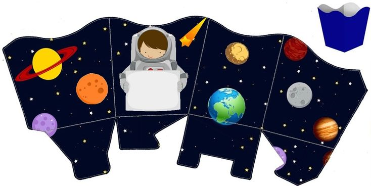 astronaut party printables - 734×368