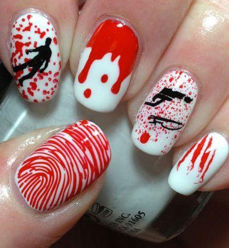 Nail Art spécial Halloween : inspiration Dexter