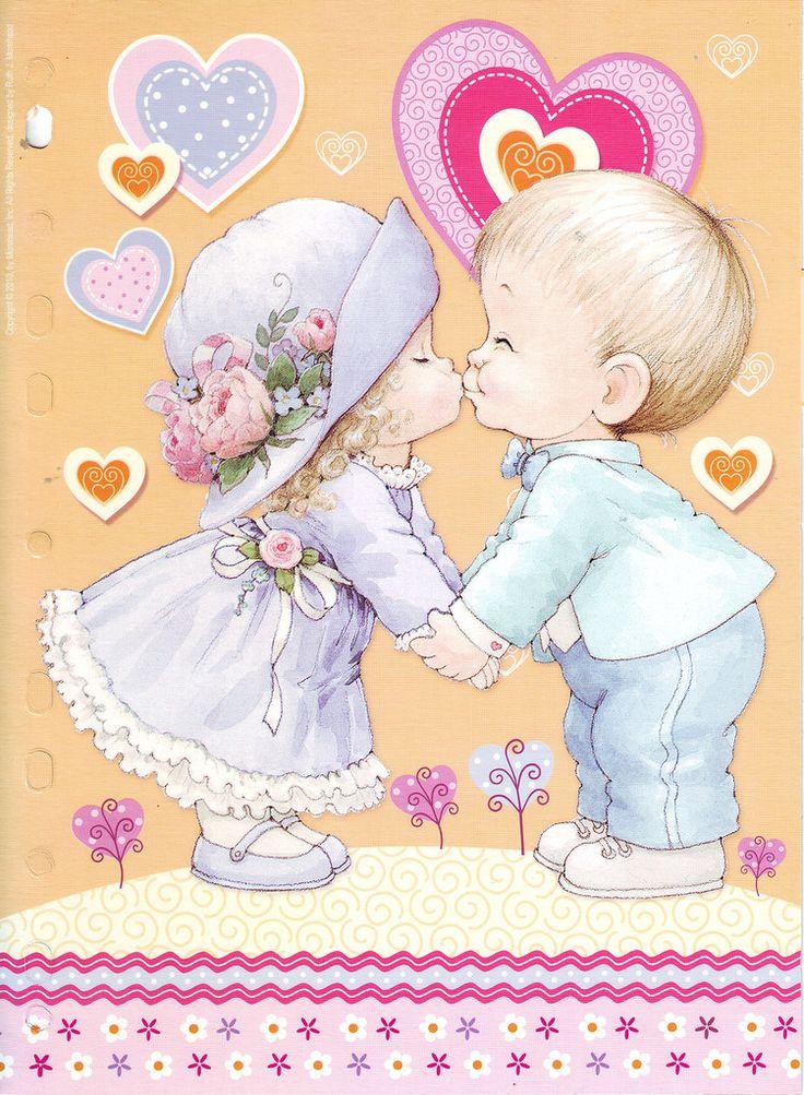 Открытка день рождения девочка и мальчик
