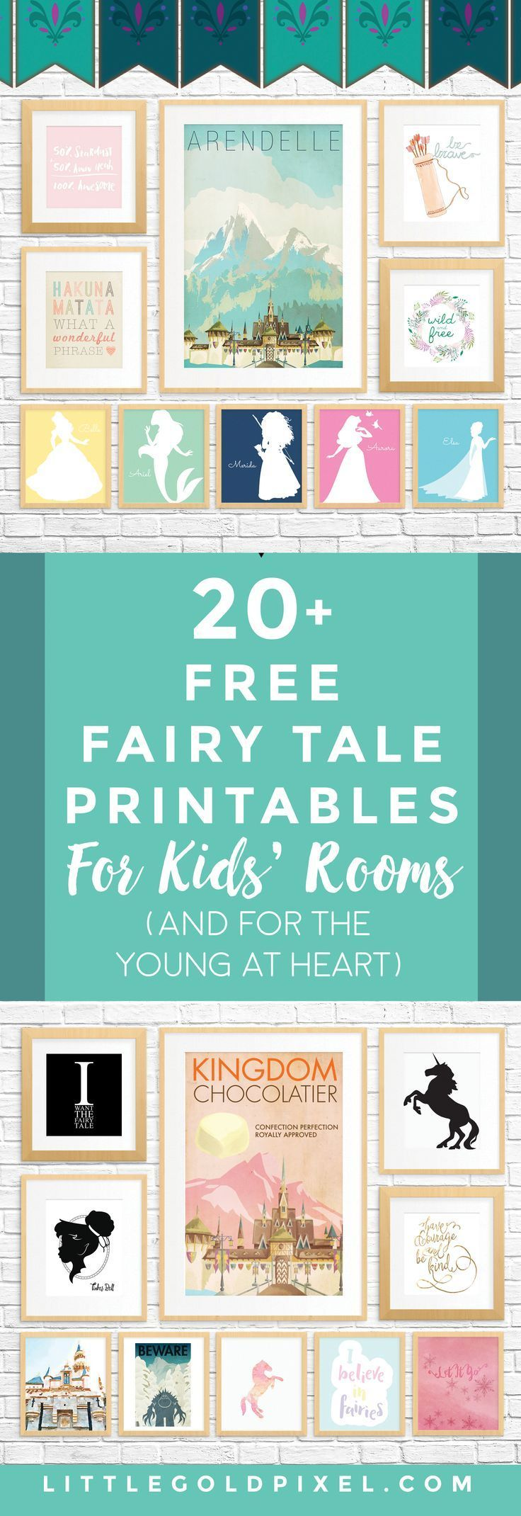 20 Free Fairy Tale Printables for Kids Rooms (and for adults who are young at heart!)