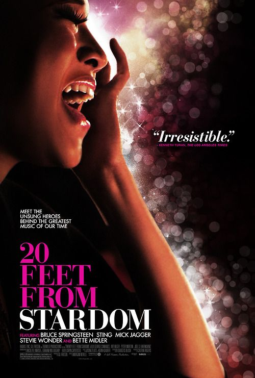 Loved this movie!  The official poster for TWENTY FEET FROM STARDOM.  In theaters June 14!
