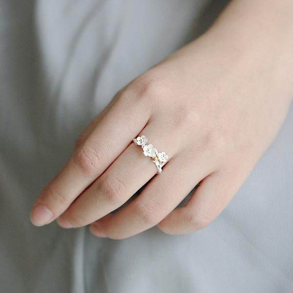 Ring - Cherry Blossom Flower Branch Ring