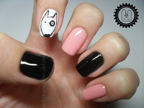 69 best doggy nail art images on pinterest nail designs i can do without the dog on my nail prinsesfo Gallery