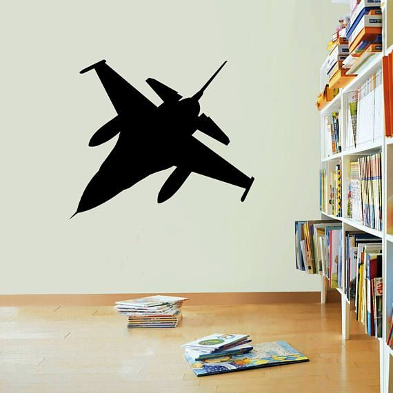 Fighter Jet Vinyl Stickers Decals Art Home Decor Mural Etsy Wall Decals For Bedroom Vinyl Sticker Wall Decals