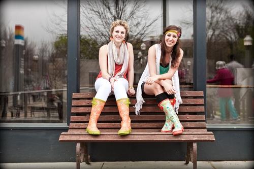The cutest girls around in their Jessica Swift rain boots... #rainboots