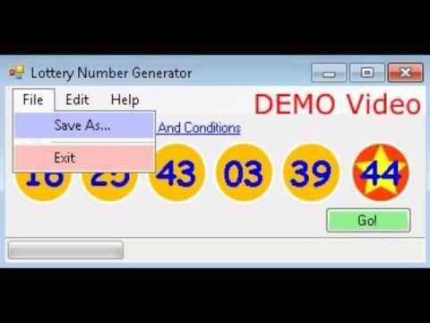 Lottery Number Generator V1.3.5 Demo Video - (More info on: https://1-W-W.COM/lottery/lottery-number-generator-v1-3-5-demo-video/)