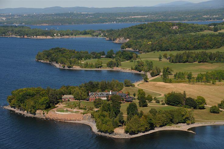 The Inn at Shelburne Farms on Lake Champlain in Shelburne, Vermont.