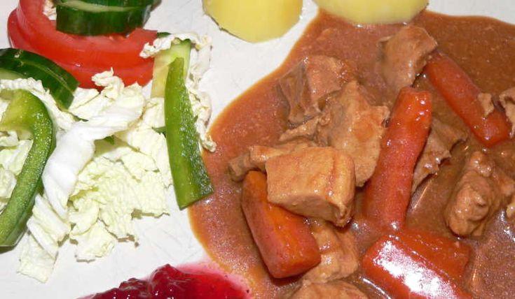Ett basrecept på en köttgryta gjord på fläskkött!