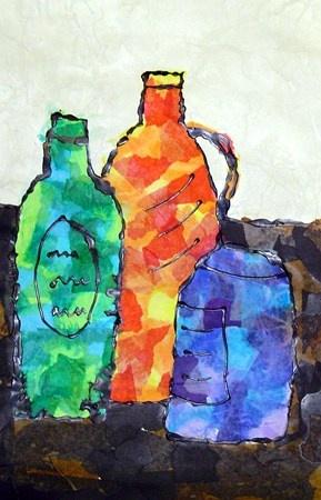 Still Life Collage by my student Richard, grade 4 (Donna Staten)