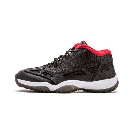 BLACK/VARSITY RED-WHITE Mens Air Jordan 11 Retro Low Basketball Shoes  306008 001