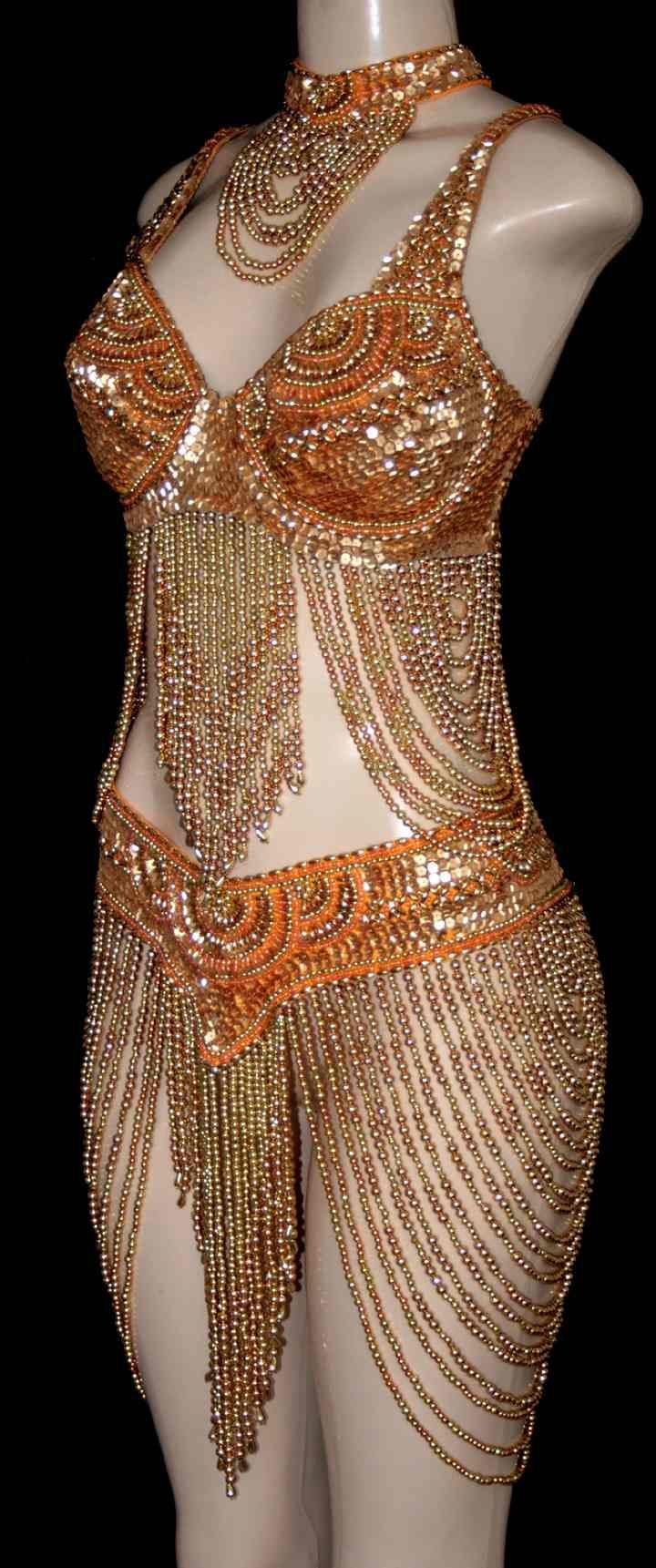 Loops Style Beaded Dance Costume