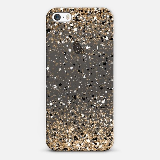 Gold Black White Party Confetti Explosion Frosty Charcoal iPhone 5S Case by Organic Saturation | Casetify. Get $10 off using code: 53ZPEA