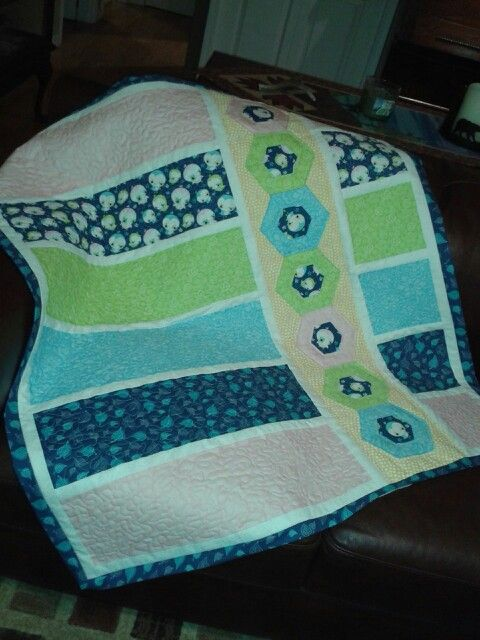 Baby quilt July 4th 2015