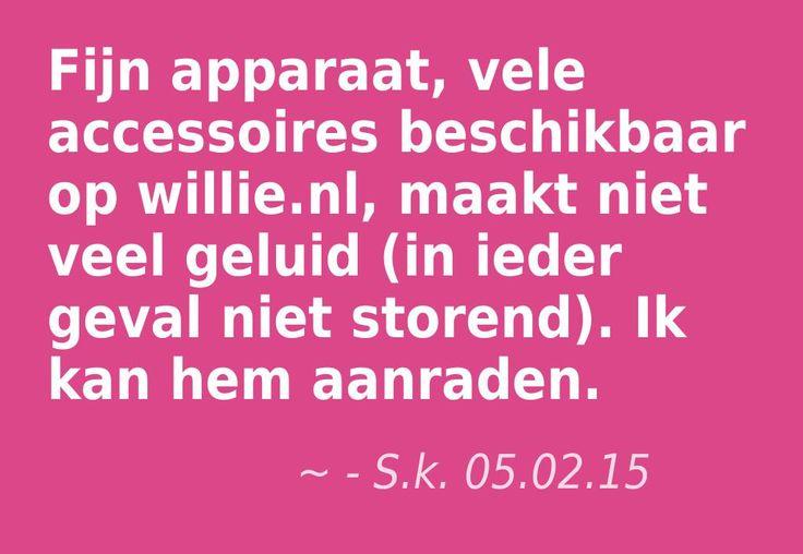 """""""Fijn apparaat, vele accessoires beschikbaar op willie.nl, maakt niet veel geluid (in ieder geval niet storend). Ik kan hem aanraden."""" - S.k. 05.02.15, Dutch owner of #EuropeMagicWand wand massager. #10outof10 stars for @EuropeMagicWand. Get more info at www.europemagicwand.nl"""