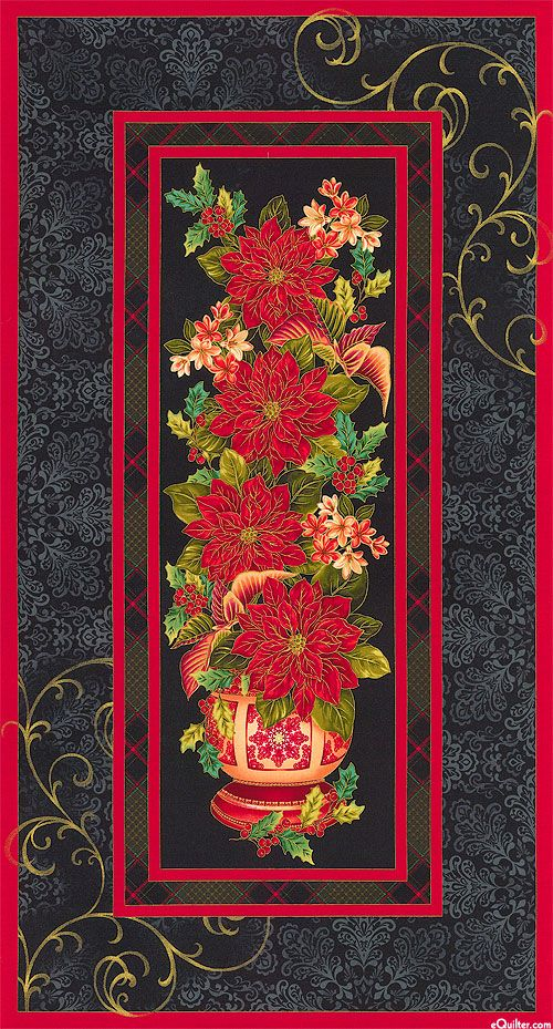 Christmas Splendor Poinsettia 24 Quot X 44 Quot Panel Quilt Fabrics From Www Equilter