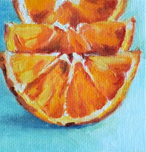 "Daily Paintworks - ""Orange Slices"" - Original Fine Art for Sale - © Stefan Peters"