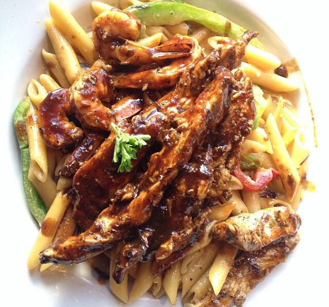 Rasta Pasta Jerk Chicken (oh yeah! I'm making this) YUM!!