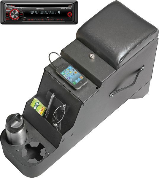 iVault Console and Kenwood Stereo Combo in Black for 76-95 Jeep CJ & Wrangler YJ