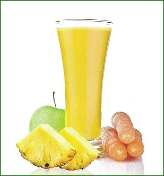 Pineapple Paradise with Aloe Vera Juice   An excellent source of fiber and it is an effective cleansing agent