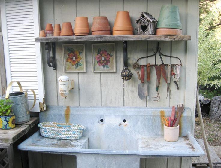 82 best Potting bench images on Pinterest Gardening, Potting sheds