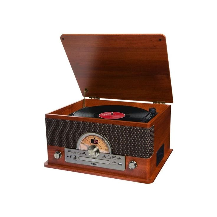 ION - Bluetooth Stereo Audio system - Brown wood grain