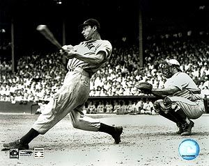 "Same great swing from the other side of the plate!  Mr. ""Diamond Joe"" Dimaggio."