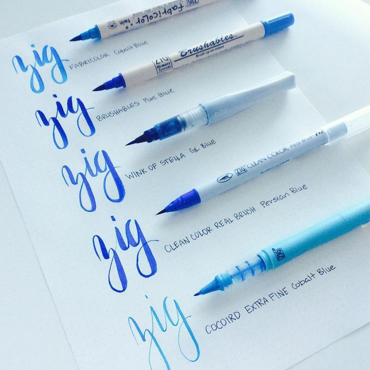 Get your ZIG on with Kuretake brush pens! Which Zig brush marker is your favorite?