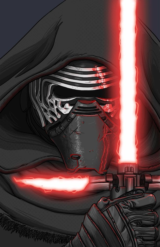 "quasilucid: ""Kylo Ren Turning some of my art into animated gifs. """