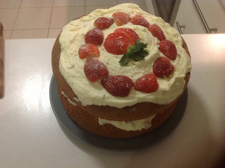 My first Eton mess cake, chiffon sponge, Eton mess filling. Delicious