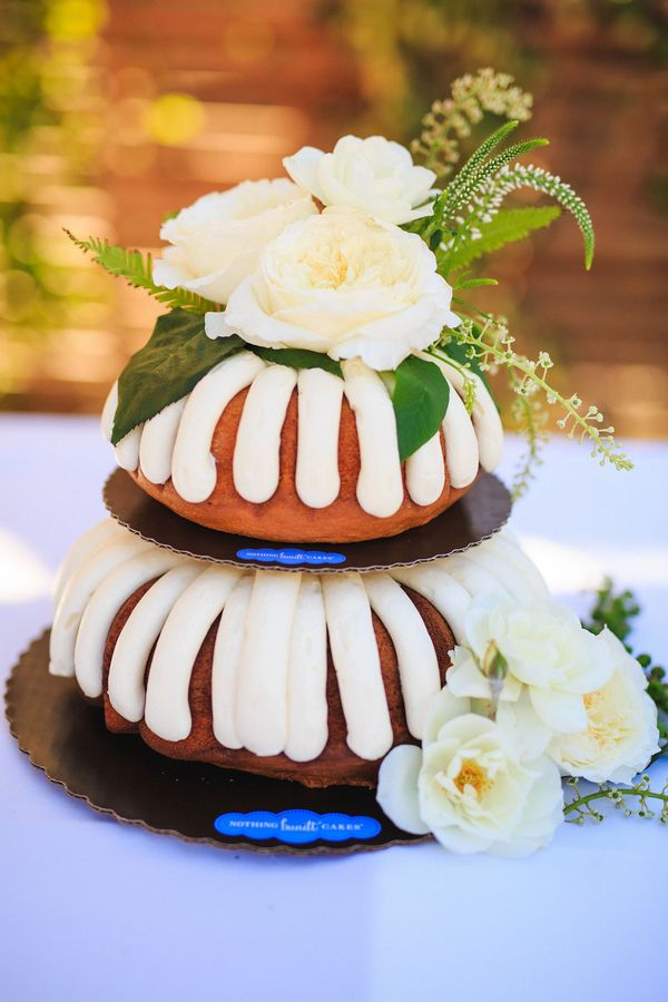 Wedding Cake from Nothing Bundt Cakes|{Classic Elegance}Temecula Creek Inn - Stone Meadow Wedding|Photographer:  Leif Brandt Photography