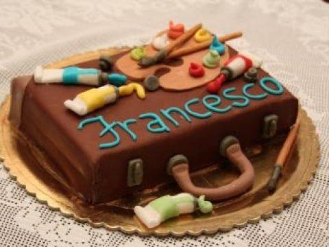 Torta valigetta del pittore: Torte Decorate Compleanno | Cookaround