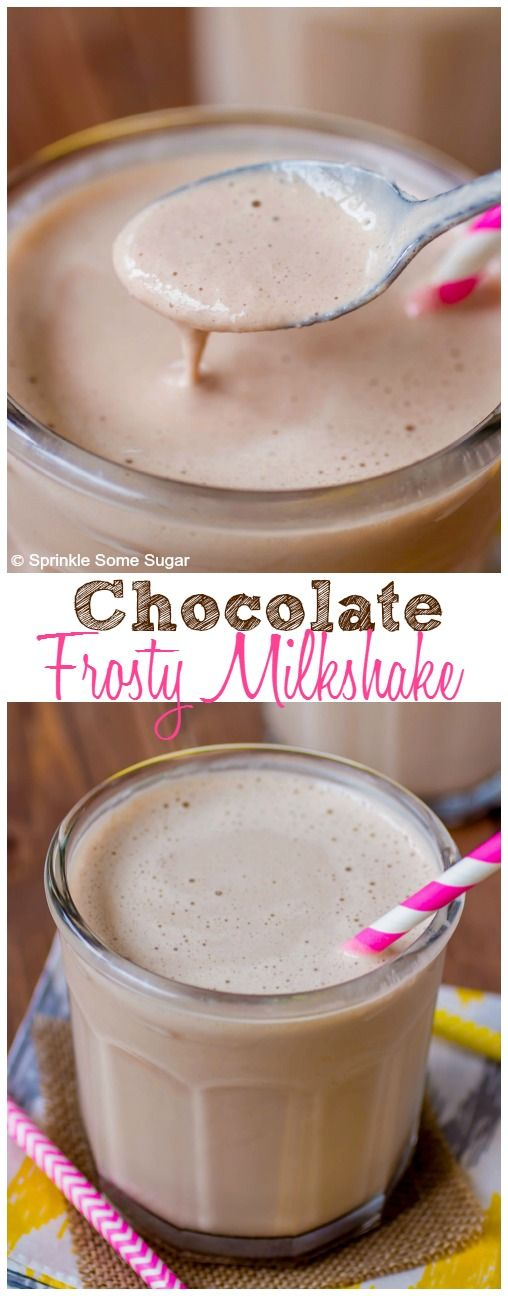 Homemade Chocolate Frosty Milkshake. This shake is super creamy and spot on to your favorite tasty treat!