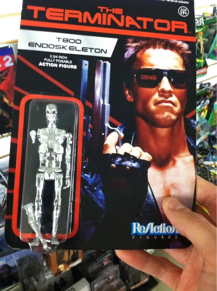 According to the original Terminator movie, this T800 endoskeleton toy figure probably isn't broken at all!